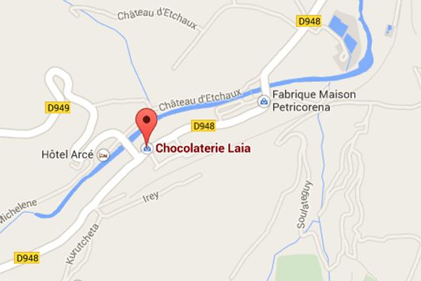 Adresse plan Laia Saint Etienne de Baigorry