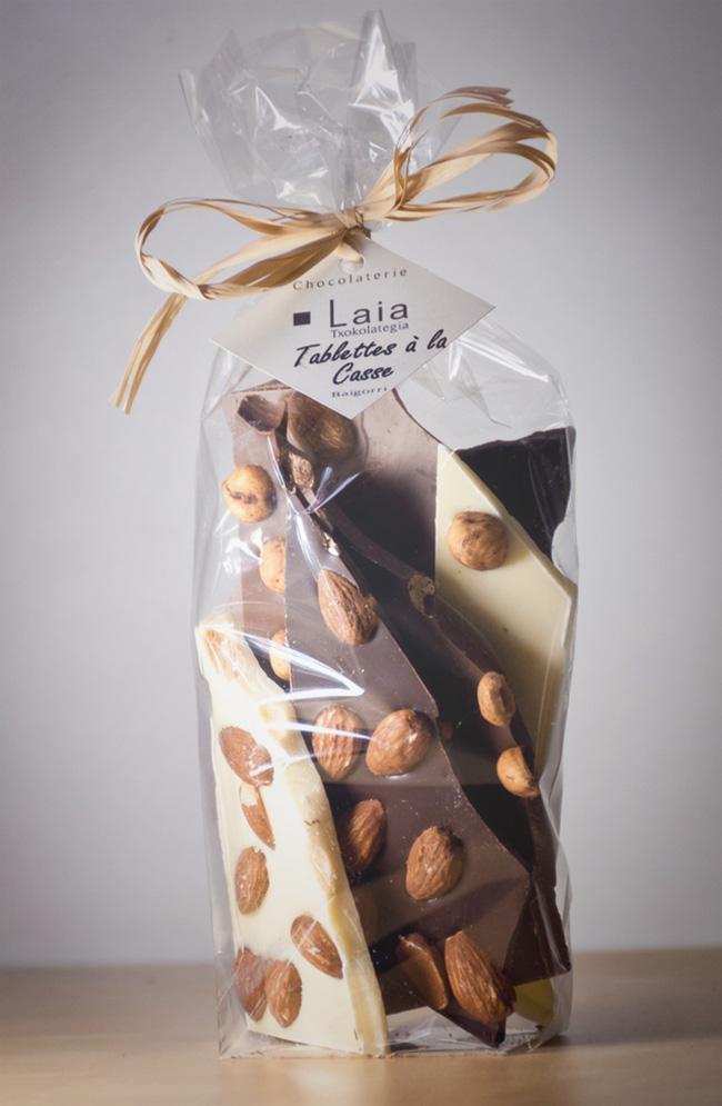 Tablettes de chocolat à la casse 200g Laia